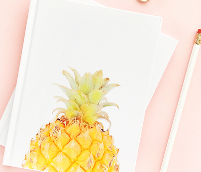 Pineapple notebook Mothers Day - 404 x 346