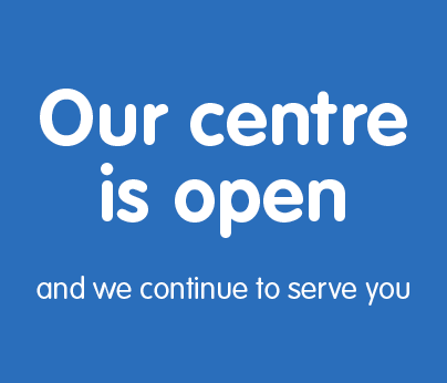 Our centre is open to serve you